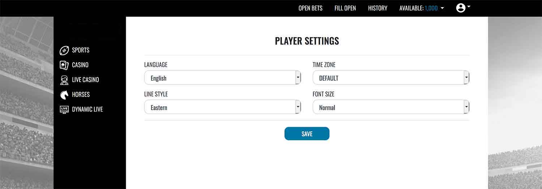Sportsbook customization options at realbookies.com