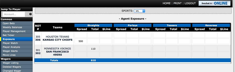 Exposure report at Aceperhead.com pay per head bookie service