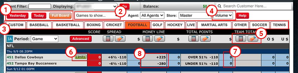 pphsportsbook.net's game admin / line mover tool.