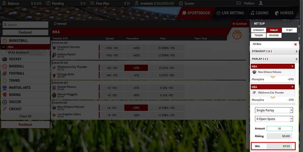 How moneyline parlays work view from pphsportsbook.net