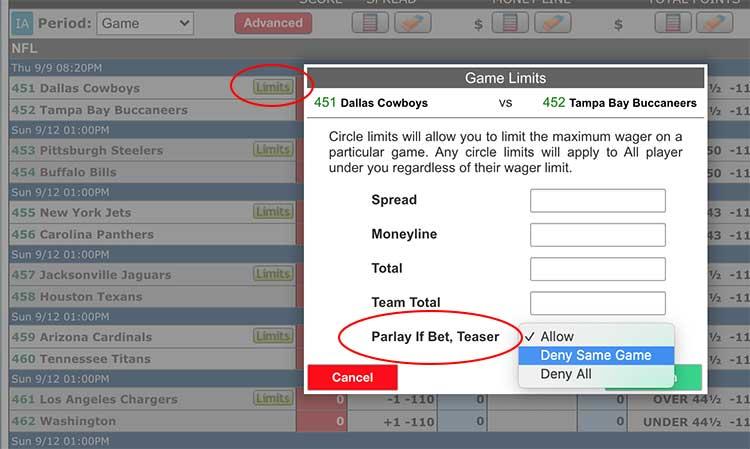 Disable parlay per head (game admin screen)