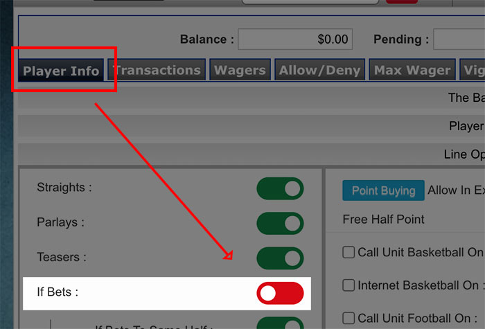 Disabling if-bets on pphsportsbook.net pay per head sportsbook platform